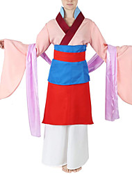 cheap -Mulan Outfits Women's Movie Cosplay Hanfu Pink Skirt Halloween Terylene