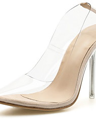 cheap -Women's Heels Transparent Shoes Stiletto Heel Pointed Toe Mesh Spring & Summer Almond / Daily / 3-4
