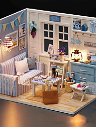cheap -Dollhouse Pretend Play Model Building Kit Novelty DIY Furniture House Wooden Wood 1 pcs Toy Gift