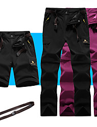 cheap -Women's Hiking Pants Trousers Convertible Pants / Zip Off Pants Summer Outdoor Breathable Quick Dry Stretchy Sweat-Wicking Shorts Pants / Trousers Bottoms Black Army Green Fuchsia Grey Camping