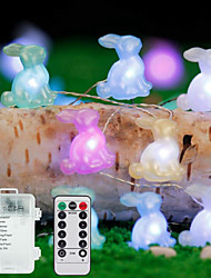 cheap -3M 30Leds Easter Rabbit Shape String Light Bunny Lamp Battery Operated Lighting Home Party Decoration Easter Festival Supplies