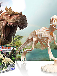 cheap -3D Puzzle Dinosaur Fossil Dinosaur Figure Dinosaur Animals Adorable Parent-Child Interaction Plastic Kid's All Toy Gift