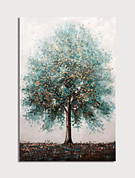cheap -Hand Painted Canvas Oilpainting Abstract Tree Home Decoration with Frame Painting Ready to Hang