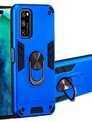 cheap -Case For Huawei P20 lite/Honor 7C(Enjoy 8)/Mate 20 lite Two-in-one Ring Holder Back Cover Armor TPU / PC For Huawei Honor V30/V30 Pro/9X/Nova 6/Nova 6SE/Nova 5i/Y7 Prime 2018