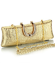 cheap -Women's Bags Polyester Evening Bag Crystals Chain for Wedding / Event / Party Black / Champagne / Gold / Gray / Coffee / Wedding Bags