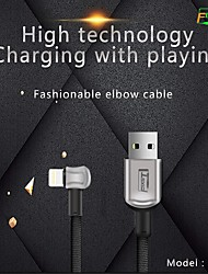 cheap -Lightning Cable 2 A Quick Charge Zinc Alloy / PVC(PolyVinyl Chloride) USB Cable Adapter For iPhone