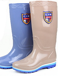 cheap -Men's PVC Spring & Summer Boots Waterproof Booties / Ankle Boots Blue / Khaki
