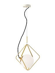 cheap -33 cm Lantern Desgin Pendant Light Metal Glass Painted Finishes Nature Inspired / Nordic Style 110-120V / 220-240V