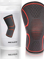 cheap -Knee Brace for Running Racing Basketball Impact Resistant Non Slip Nylon 1 Piece Sports & Outdoor Black Sky Blue Yellow