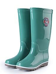 cheap -Men's PU Winter Boots Waterproof Knee High Boots Green / Blue