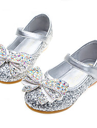 cheap -Girls' Comfort / Flower Girl Shoes PU Sandals Dress Shoes Little Kids(4-7ys) / Big Kids(7years +) Rhinestone / Sparkling Glitter / Sequin Pink / Gold / Blue Fall / Winter / Party & Evening / Rubber