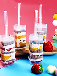 cheap -10 heart-shaped Cake tube pushers with stickers