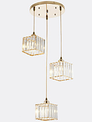 cheap -13 cm Cluster Design / Square Line Design Pendant Light Metal Crystal / Mini Painted Finishes Contemporary / Artistic 110-120V / 220-240V