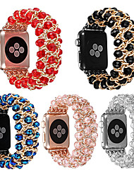 cheap -Crystal jewelry bracelet beads chain for apple watches iWatch54321 generation 38/40 mm 42/44 mm