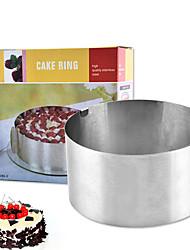 Недорогие -нержавеющая сталь круглый мусс круг торт формы 6-12 дюймов регулируемый объемный инструмент для выпечки