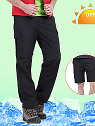 cheap -Men's Hiking Pants Trousers Convertible Pants / Zip Off Pants Solid Color Summer Outdoor Waterproof Breathable Quick Dry Sweat-wicking Nylon Pants / Trousers Convertible Pants Bottoms Black Army