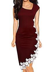cheap -Women's Bodycon Dress - Color Block Black Wine Army Green S M L XL