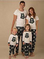 cheap -Family Look Family Matching Outfits Clothing Set Geometric Green Gray