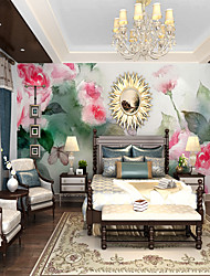 cheap -Custom self-adhesive mural wallpaper hand-painted rose  suitable for bedroom living room  coffee shop  restaurant  hotel wall decoration art  Wallpaper / Mural / Wall Cloth Room Wallcovering
