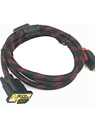Недорогие -3 м HDMI-DVI DVI-D 241-контактный адаптер 4 К двунаправленный DVI-мужчина к HDMI-мужчина конвертер кабель для ЖК-DVD HDTV Xbox