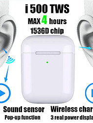 cheap -New i500 TWS 2 1 to 1 Replica Bluetooth Headset Wireless headset 6D subwoofer sound sensor with wireless charging headset pk i100 i200 i1000 tws W1 / H1 chip