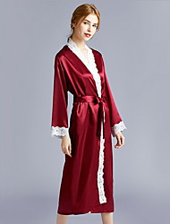 cheap -Women's Deep V Chemises & Gowns / Suits Pajamas Color Block