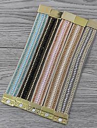 cheap -Women's Charm Bracelet Bracelet Bangles Bead Bracelet Tropical Fashion Simple Bohemian Trendy Sweet Lolita Acrylic Bracelet Jewelry Blushing Pink / khaki / Blue For School Daily Wear Date Athleisure