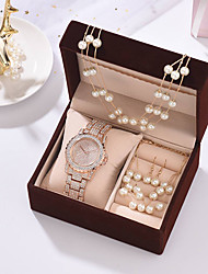 cheap -Women's Steel Band Watches Luxury New Arrival Silver Gold Rose Gold Stainless Steel Chinese Quartz Rose Gold Gold Silver Chronograph Cute New Design 1 set Analog One Year Battery Life
