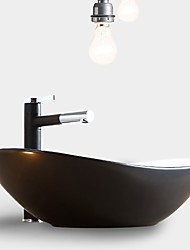 cheap -Simple Nordic Style Bathroom Vanity Basin Loft Industrial Black Matte Washbasin Ceramic Single Basin Without Faucet