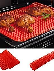 abordables -1 unid bandeja para hornear esteras antiadherentes de silicona para hornear estera de cocina bandeja de horno herramientas de cocina