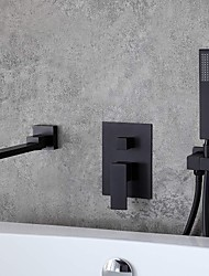 cheap -Bathroom Sink Faucet - Wall Mount / Widespread Electroplated Widespread Single Handle Three HolesBath Taps