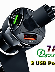 cheap -Quick Charge QC3.0 Car Charger 3 USB Ports Car Cigarette Lighter Adapter for iPhone Samsung Huawei Xiaomi QC Car Phone Charging