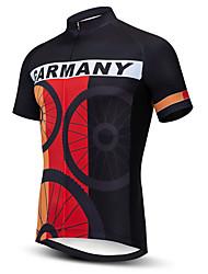 Недорогие -21Grams Муж. С короткими рукавами Велокофты Черный / красный Буле / черный Черный / желтый В полоску Американский / США UK Велоспорт Джерси Верхняя часть Горные велосипеды Шоссейные велосипеды
