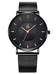 cheap -Steel Band Watches Quartz Luxury Water Resistant / Waterproof Analog Black Gold Silver / One Year / Stainless Steel / Japanese / Japanese / One Year