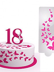 Недорогие -Свадебные украшения бабочка помадка торт спрей плесень поделки