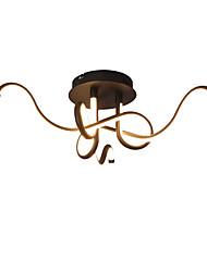 cheap -62 cm Line Design Semi-Flushmount Lights Aluminum Painted Finishes / Black Contemporary / Artistic 110-120V / 220-240V