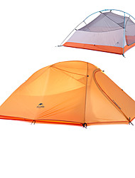 cheap -Naturehike 3 person Backpacking Tent Outdoor Waterproof Portable Windproof Double Layered Camping Tent >3000 mm for Hunting Camping Outdoor Silicone Polyester Aluminium 300*175*110 cm