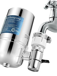 cheap -Kitchen Tap Water Filter Faucet System, Water Faucet Filtration System with Filter Change Reminder, Reduces Lead, BPA Free, Fits Standard Faucets