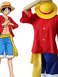 cheap -Inspired by One Piece·Two Years After Version Monkey D. Luffy Anime Cosplay Costumes Japanese Cosplay Suits Top Pants Belt For Women's