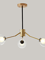 cheap -feimiao 3-Light 70 cm Sputnik Design Chandelier Metal Glass Painted Finishes Modern / Nordic Style 110-120V / 220-240V