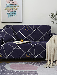 cheap -Geometry Crown Print Dustproof All-powerful Slipcovers Stretch Sofa Cover Super Soft Fabric Couch Cover with One Free Pillow Case