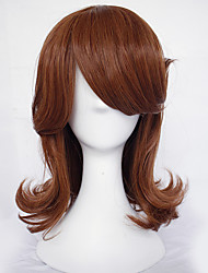 cheap -Cosplay Princess Cosplay Wigs Women's Side bangs 20 inch Heat Resistant Fiber Curly Brown Brown Anime