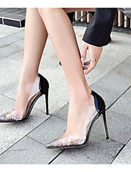 cheap -Women's Heels Clear / Transparent / PVC Stiletto Heel Pointed Toe PU Spring & Summer Red / Black / Beige / Daily