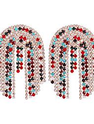 cheap -Women's Drop Earrings Hoop Earrings Earrings Classic Sweet Heart Stylish Simple Punk Cool Gold Plated Imitation Diamond Earrings Jewelry Black / Gold For Party Evening Gift Vacation Street Festival 1