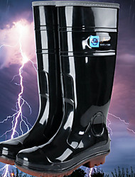 cheap -Men's PVC Spring & Summer Boots Waterproof Knee High Boots Black / Brown