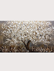 cheap -Oil Painting Abstract Silver Tree 3D Hand Painted on Canvas Texture Palette Knife Paintings with Stretched Frame for Home Decor With Stretched Frame
