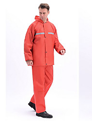 cheap -Men's Solid Color Nylon Black Red XL XXL XXXL 4XL / Waterproof / Windproof