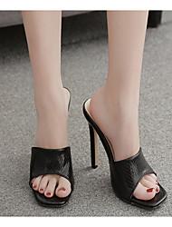cheap -Women's Heels Stiletto Heel Pointed Toe PU Spring & Summer Black / White
