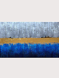 cheap -Handmade Blue Gray and Gold Color Abstract Decorative Artwork Textured Modern Oil Painting on Canvas For Wall Art