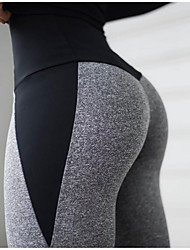 cheap -Women's Yoga Basic Legging Color Block Print Mid Waist Gray S M L / Slim